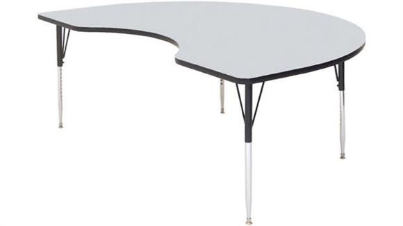 "Activity Tables Correll 72"" x 48"" Kidney Shaped Activity Table"
