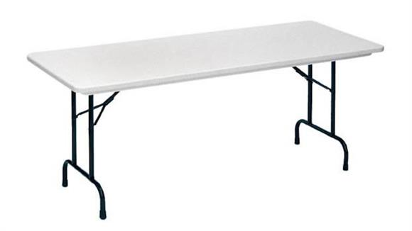 "Folding Tables Correll 48"" x 24"" Blow Molded Folding Table"