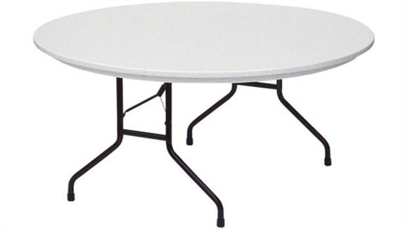 "Folding Tables Correll 60"" Round Blow Molded Folding Table"