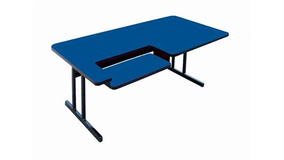 "Training Tables Correll 48"" x 30"" Bi Level Work Station"