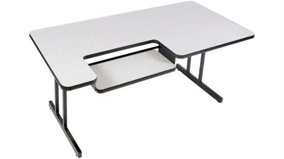 "Training Tables Correll 72"" x 30"" Bi Level Work Station"