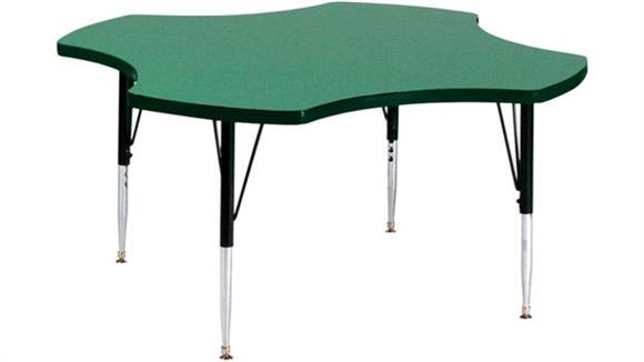 "Activity Tables Correll 48"" Clover Shaped Activity Table"