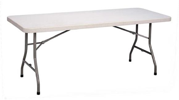"Folding Tables Correll 30"" x 60"" Blow Molded Folding Table"