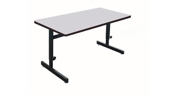 "Training Tables Correll 36"" x 24"" Adjustable Height Work Station"