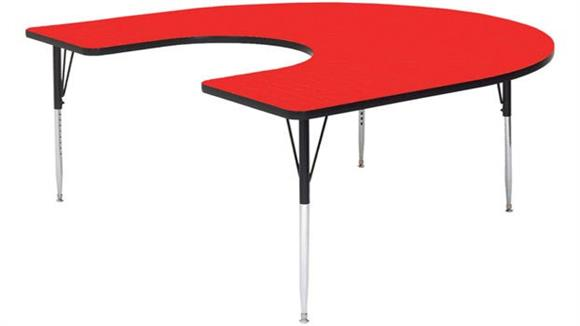 "Activity Tables Correll 66"" x 60"" Horseshoe Shaped Activity Table"