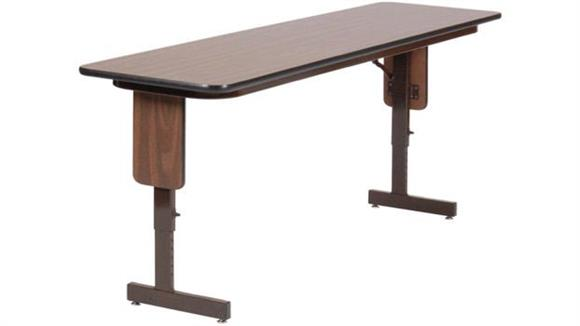 "Training Tables Correll 18"" x 96"" Adjustable Height Panel Leg Seminar Table"