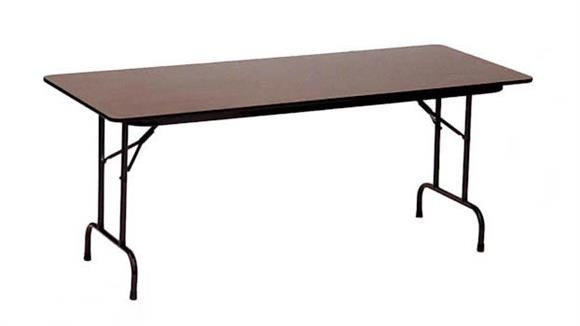 """Conference Tables Correll 36"""" x 96"""" Plywood Core Folding Table"""