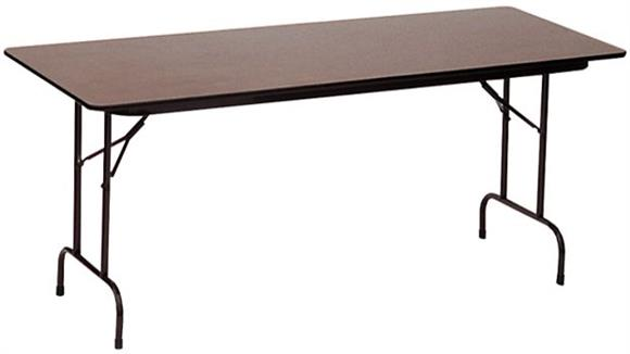 "Folding Tables Correll 24"" x 48"" Melamine Top Folding Table"