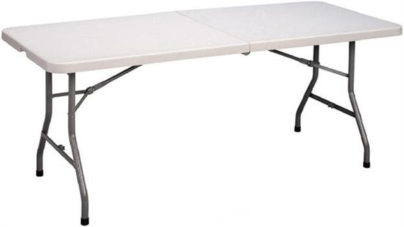 Folding Tables Correll Blow Molded Fold in Half Table