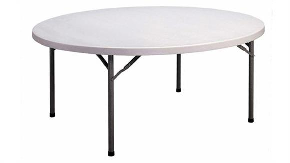 "Folding Tables Correll 72"" Round Blow Molded Folding Table"