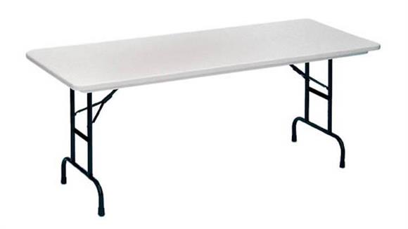 "Folding Tables Correll 72"" x 30"" Adjustable Height Blow Molded Folding Table"