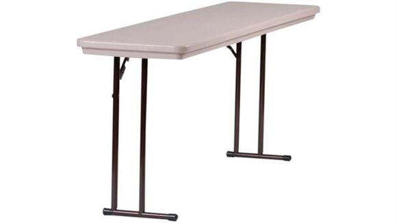 "Folding Tables Correll 72"" x 18"" Blow Molded Folding Seminar Table"