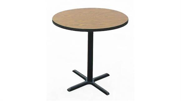 "Cafeteria Tables Correll 36"" Round Standing Height Cafe and Breakroom Table"