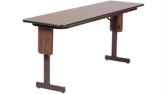 "Training Tables Correll 24"" x 96"" Panel Leg Seminar Table"