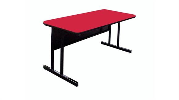 """Training Tables Correll 72"""" x 24"""" Desk Height Work Station"""