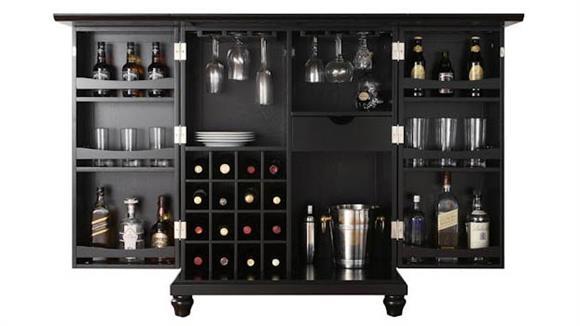 Home Bars Crosley Cambridge Expandable Bar Cabinet