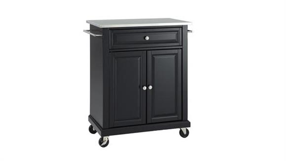 Kitchen Carts Crosley  Stainless Steel Top Portable Kitchen Cart