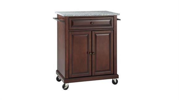 Kitchen Carts Crosley  Solid Granite Top Portable Kitchen Cart
