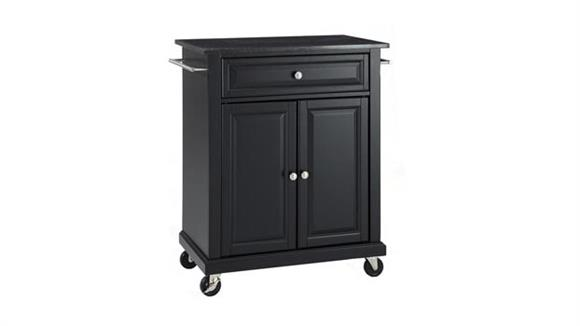 Kitchen Carts Crosley  Solid Black Granite Top Portable Kitchen Cart