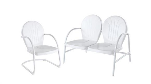 Patio Chairs & Stools Crosley  Griffith 2 Piece Metal Outdoor Conversation Seating Set