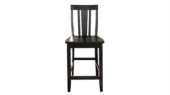 Counter Stools Crosley  Shield Back Counter Stool with 24 Inch Seat Height