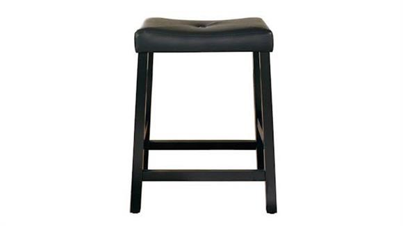 Counter Stools Crosley  Upholstered Saddle Seat Counter Stool with 24 Inch Seat Height