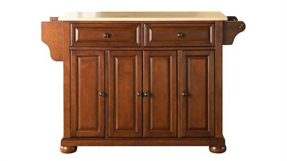 Kitchen Islands Crosley  Alexandria Natural Wood Top Kitchen Island
