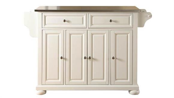 Kitchen Islands Crosley  Alexandria Stainless Steel Top Kitchen Island