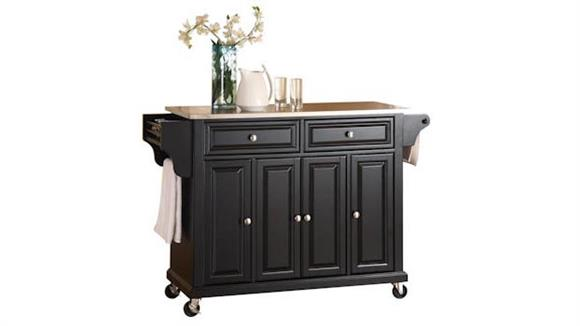 Kitchen Carts Crosley  Stainless Steel Top Kitchen Cart