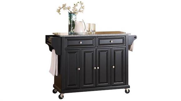 Kitchen Carts Crosley  Solid Granite Top Kitchen Cart