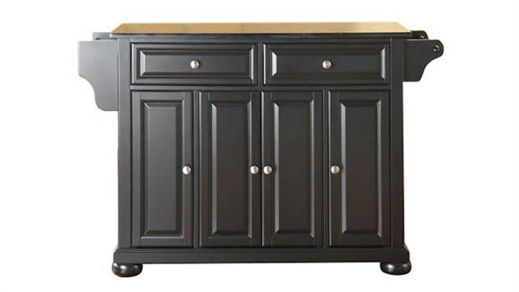 Kitchen Islands Crosley  Alexandria Solid Black Granite Top Kitchen Island
