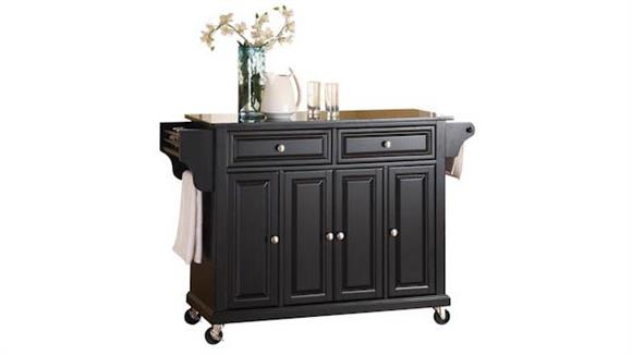 Kitchen Carts Crosley  Solid Black Granite Top Kitchen Cart