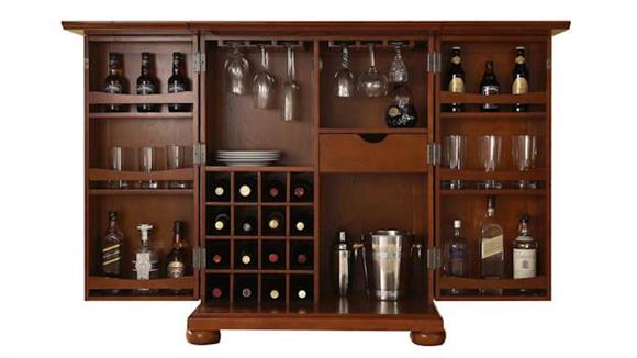 Home Bars Crosley  Alexandria Expandable Bar Cabinet