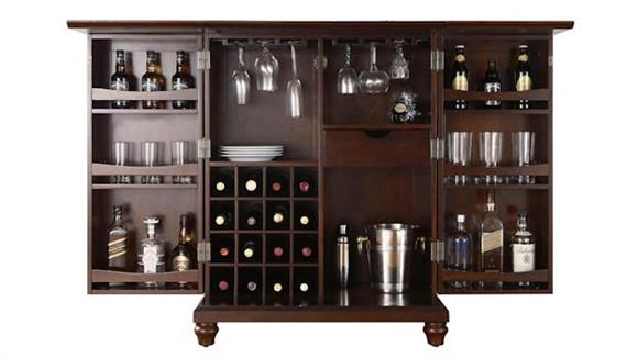 Home Bars Crosley  Cambridge Expandable Bar Cabinet