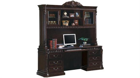 "Office Credenzas Coaster Furniture 72"" Computer Credenza with Hutch"