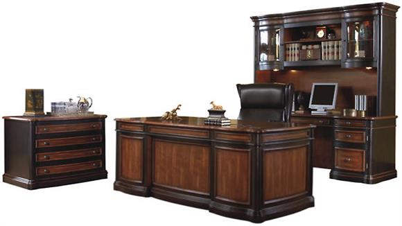 Executive Desks Coaster Furniture Wood 4 Piece Office Set