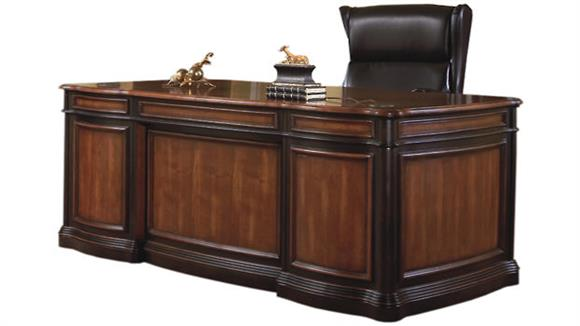 "Executive Desks Coaster Furniture 74"" Double Pedestal Executive Desk"