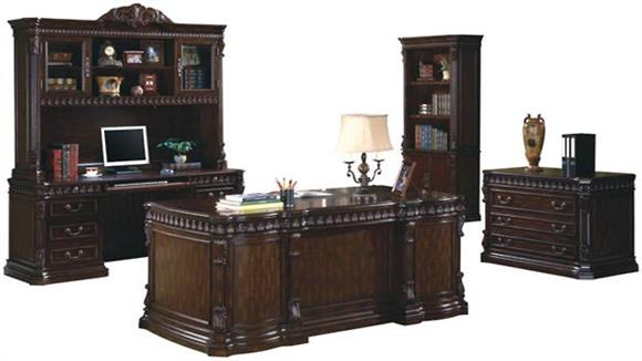 Executive Desks Coaster Furniture 5 Piece Office Set