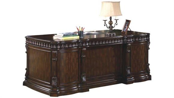 "Executive Desks Coaster Furniture 72"" Double Pedestal Executive Desk"
