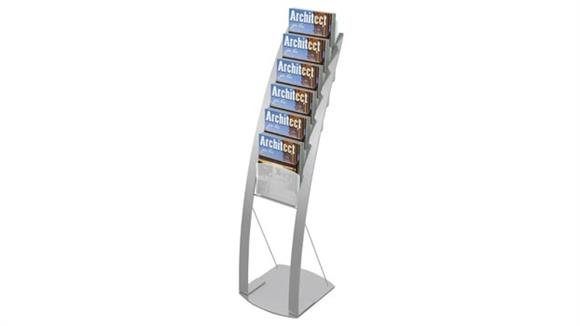 Magazine & Literature Storage Deflecto Magazine Size Contemporary Floor Display