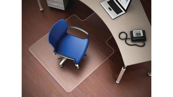 """Chair Mats Deflecto 36"""" x 48"""" Chairmat with Lip for Hard Floors"""