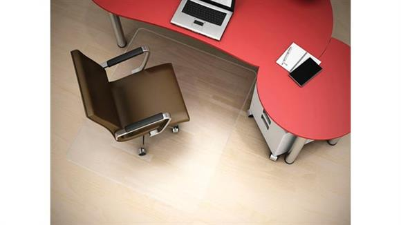 "Chair Mats Deflecto 46"" x 60"" Rectangular Chairmat for Hard Floors"