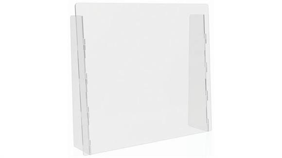 """Covid19 Office Sneeze Guards Deflecto Countertop Barrier - Full Shield - 27""""W x 24""""H"""