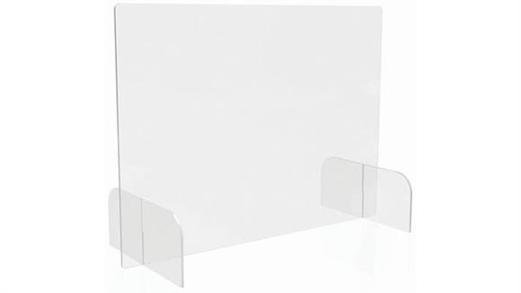 """Covid19 Office Sneeze Guards Deflecto Countertop Barrier - Full Shield - 31""""W x 23""""H"""