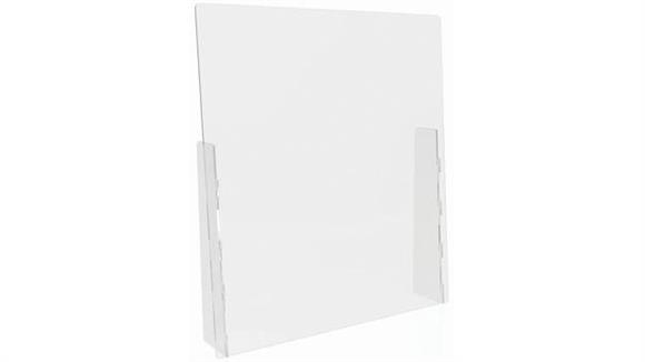 """Covid19 Office Sneeze Guards Deflecto Countertop Barrier - Full Shield - 31-3/4""""W x 36""""H"""