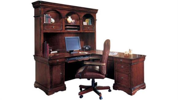 L Shaped Desks DMI Office Furniture L Shaped Desk Set with Leather Chair