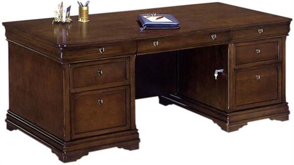 "Executive Desks DMI Office Furniture Rue De Lyon 66"" x 30"" Double Pedestal Executive Desk"