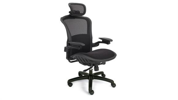Office Chairs Dauphin Viper Mesh Back Task Chair with Headrest