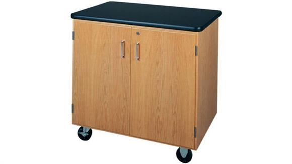 Storage Cabinets Diversified Woodcrafts Mobile Storage Cabinet with Laminate Top