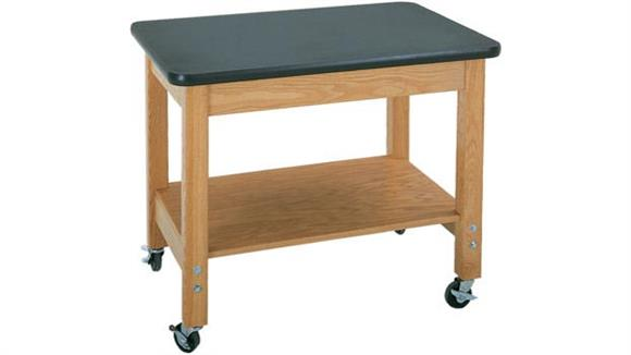 Science & Lab Tables Diversified Woodcrafts Mobile Demo Cart with Laminate Top